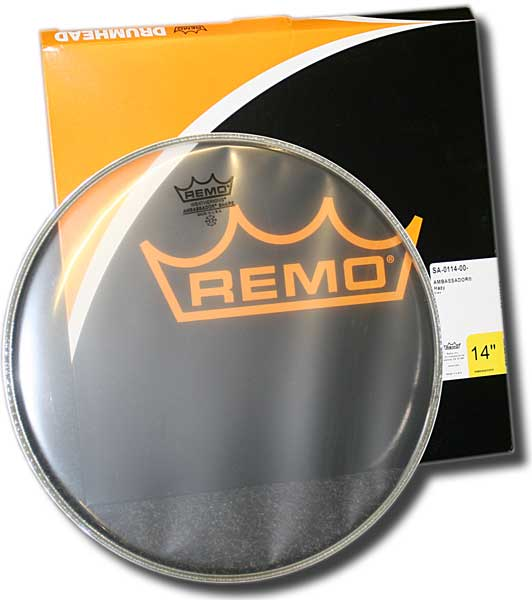 Remo Ambassador 14in snare side
