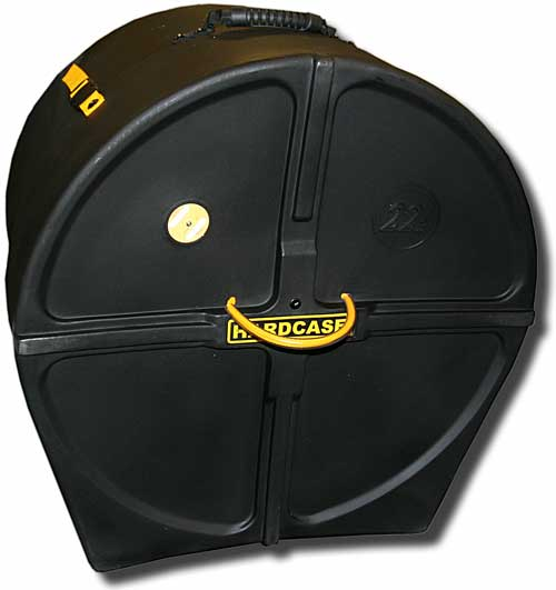 Hardcase 24in bass drum case + wheels