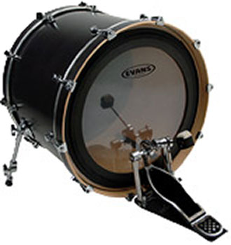 Evans 22in bass drum head -EMAD Clear