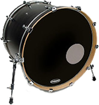 Evans 22in EQ3 Resonant Black