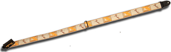 Fender Logo Strap White/Brown/Yellow
