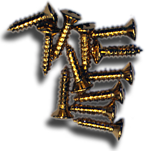 Pickguard Screws Gold (Pack of 12)