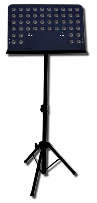 Black heavy duty music stand
