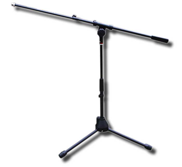 Low profile boom mic stand