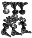 Guitar Man 3-a Side Die-Cast Tuners - Chrome