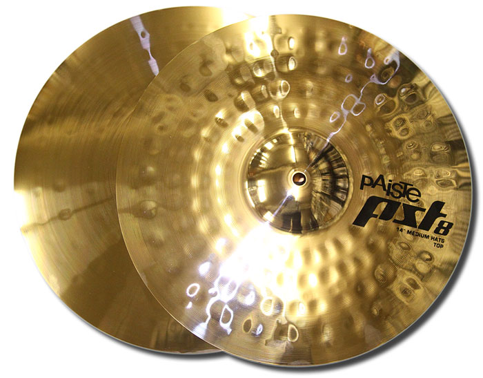 Paiste 14in PST8 reflector medium hi hats