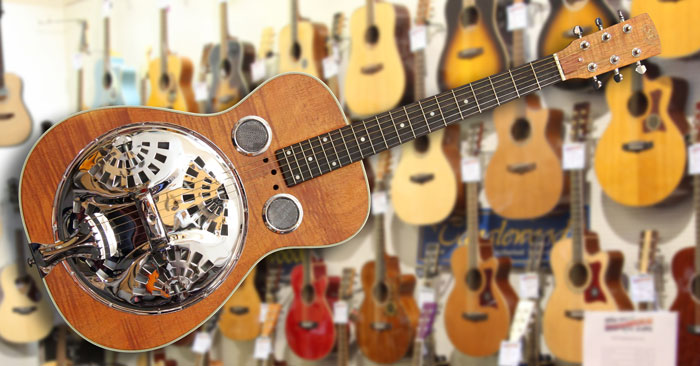 SX RG1 Dobro Resonator Natural Satin