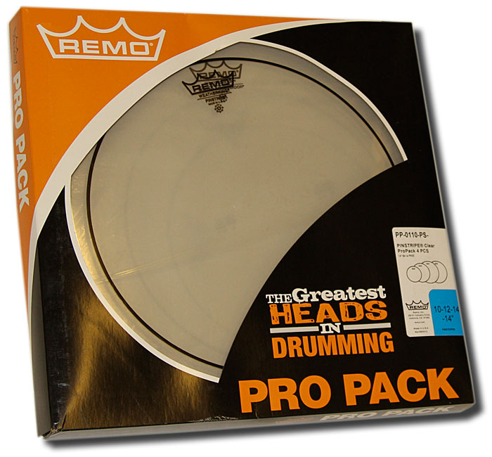 Remo Pinstripe Clear Pro Pack (4pcs)