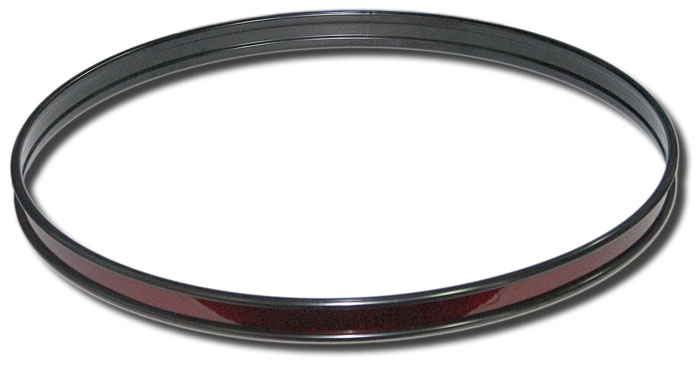 22in Steel bass drum hoop (black with wine red wrap)