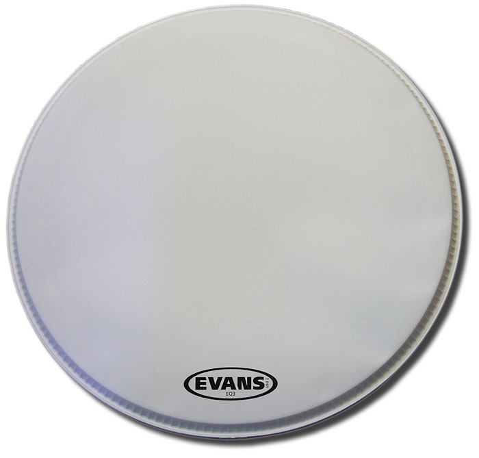 Evans 22in EQ3 coated white
