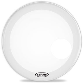 Evans 22in EQ3 Resonant smooth white