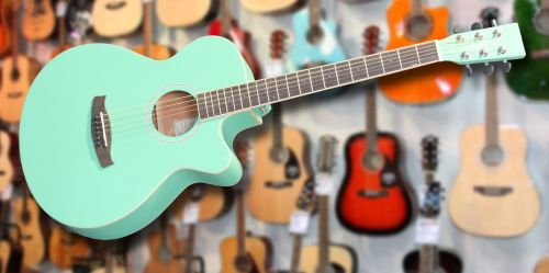 Tanglewood DBT SFCE Surf Green Electro Acoustic