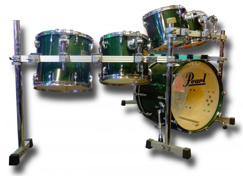 Pearl Masters Custom 5 Piece Shell Pack + Icon Rack (used)