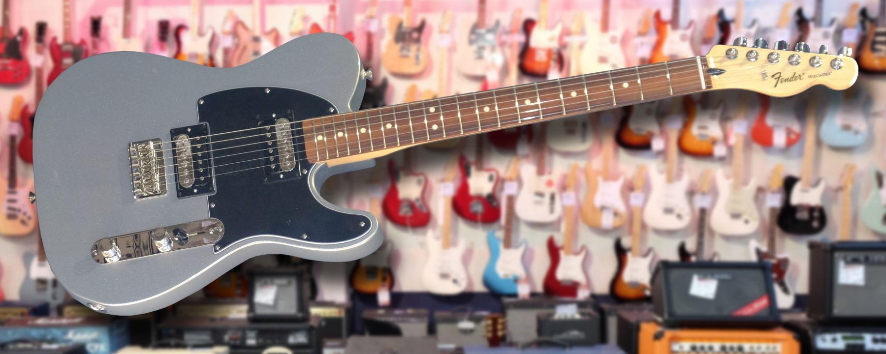 rock factory electric guitars fender standard telecaster hh ghost silver. Black Bedroom Furniture Sets. Home Design Ideas