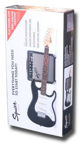 Squier Strat Short Scale Pack Black