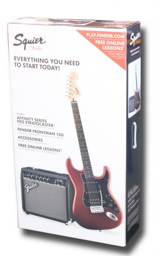 Squier Strat Pack HSS Candy Apple Red