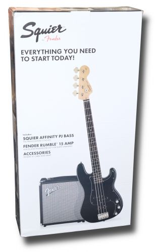 Squier Affinity PJ Bass Pack Black