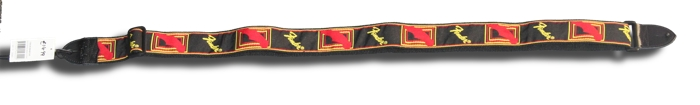Fender Logo Strap Black/Yellow/Red