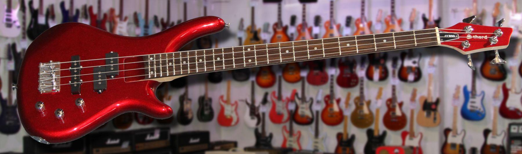 rock factory bass guitars chord ccb90 bass guitar metallic red. Black Bedroom Furniture Sets. Home Design Ideas