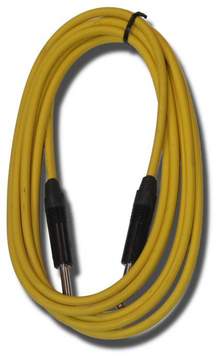 Piranha Pro Guitar Lead 3 metres Yellow