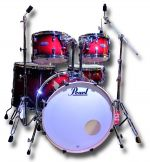 Pearl Decade Maple 5 Piece kit + Hardware (Gloss Deep Red Burst)